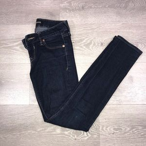 Express Victoria low rise skinny jeans
